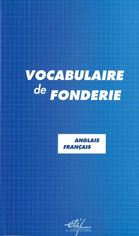 Vocabulaire de fonderie anglais fran ais librairie du ctif le creuset du savoir - Vocabulaire anglais vente pret a porter ...